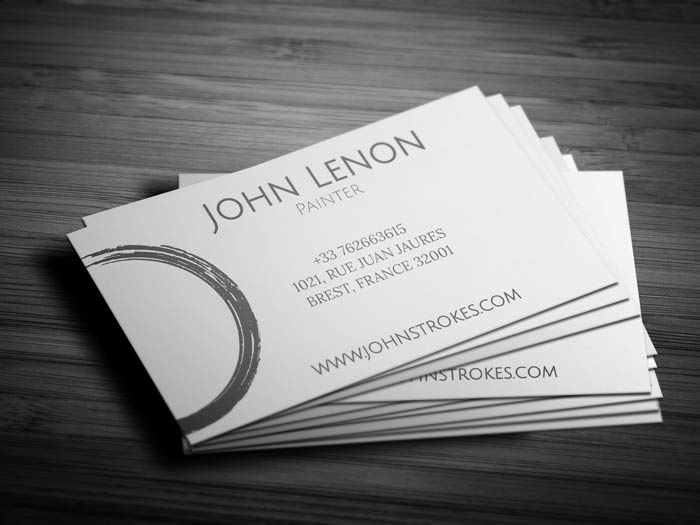 Painting Business Card - Back