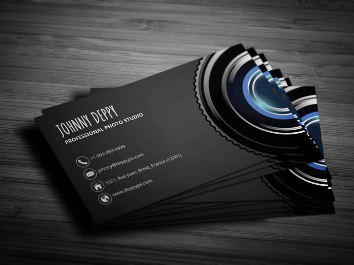 Unique Photography Business Card - Back