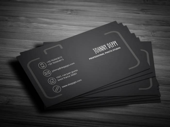 Unique Photographer Business Card - Back