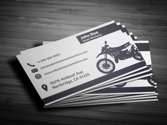 Auto Mechanic Business Card - Back