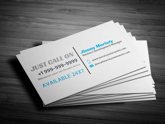 Car Repair Business Card - Back