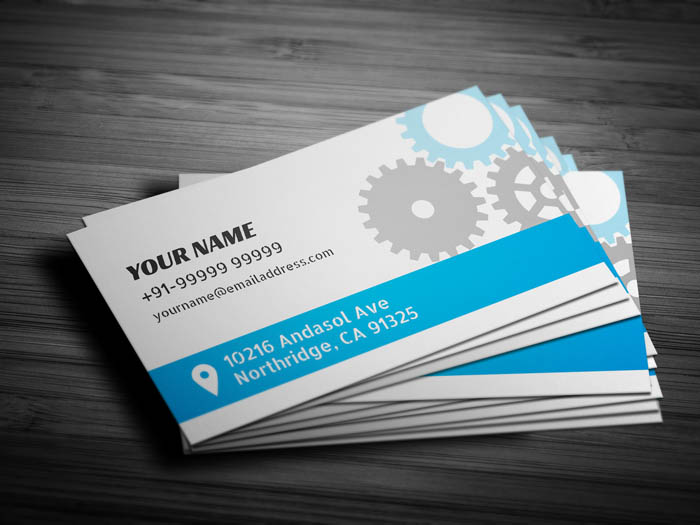 Auto Repair Business Card - Back