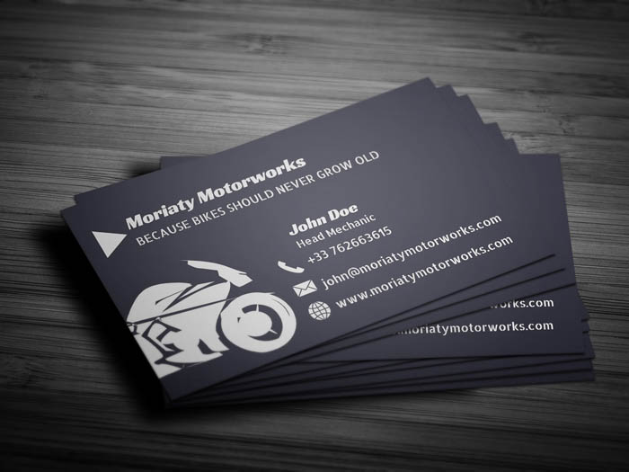 Automobile Business Card - Back