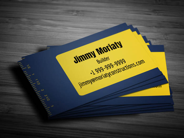 Heavy Equipment Business Card - Back