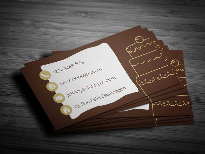 Free Cake Business Card Template