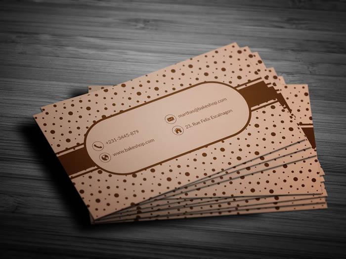 Desert Bakery Business Card - Back