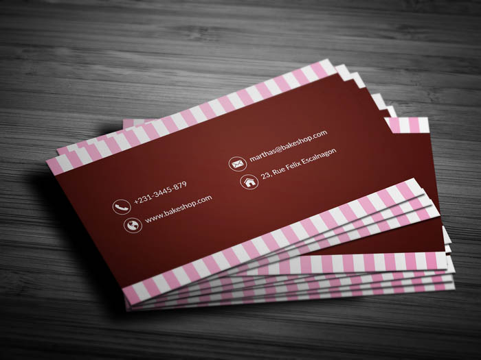 Modern Bakery Business Card - Back