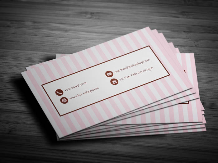 Unique Bakery Business Card - Back