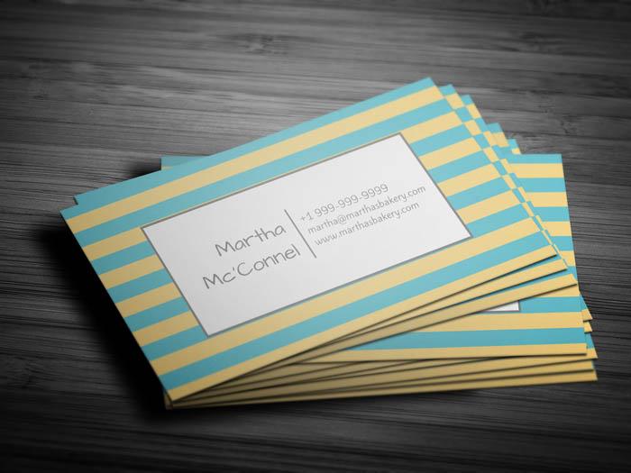 Baker Business Card - Back