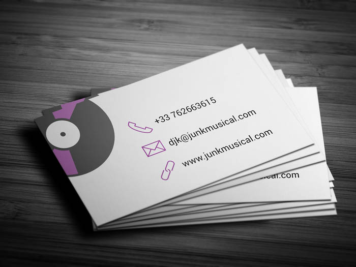 Turntable Business Card - Back