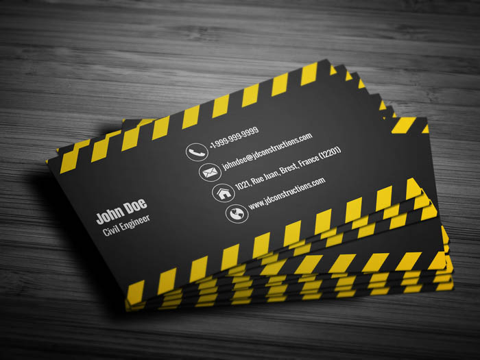Civil Engineer Business Card - Back