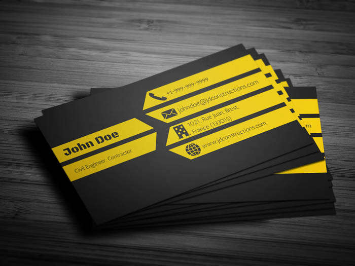 Home Construction Business Card - Back