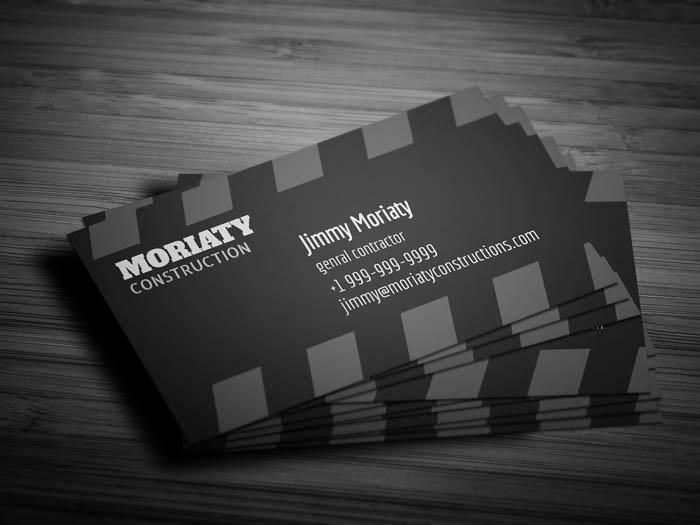 Sleek Contractor Business Card