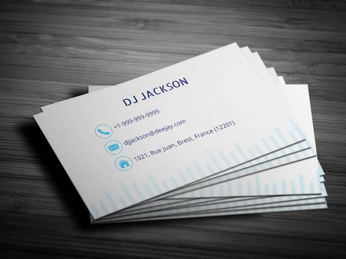 Dj Jackson Business Card - Back