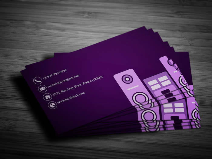 Disc Jockey Business Card - Back