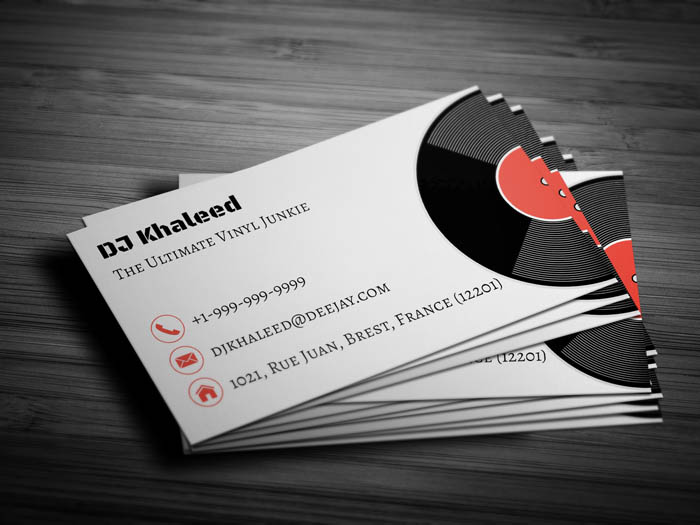 Night Club Business Card - Back