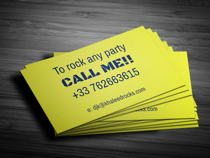 Audio Engineer Business Card - Back