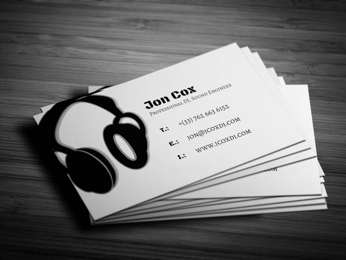 Music Production Business Card - Back