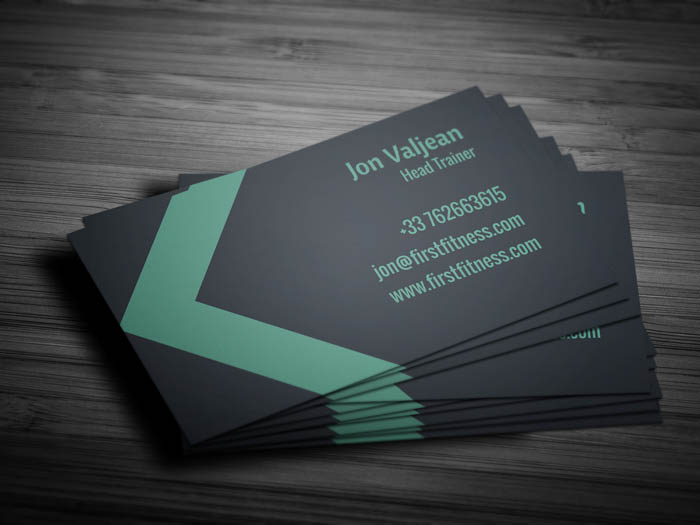 Minimal Fitness Business Card - Back