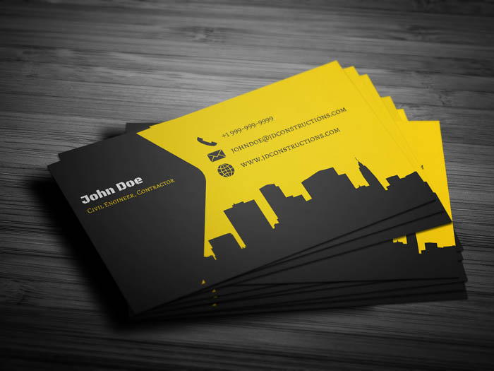 Constructor Business Card - Back