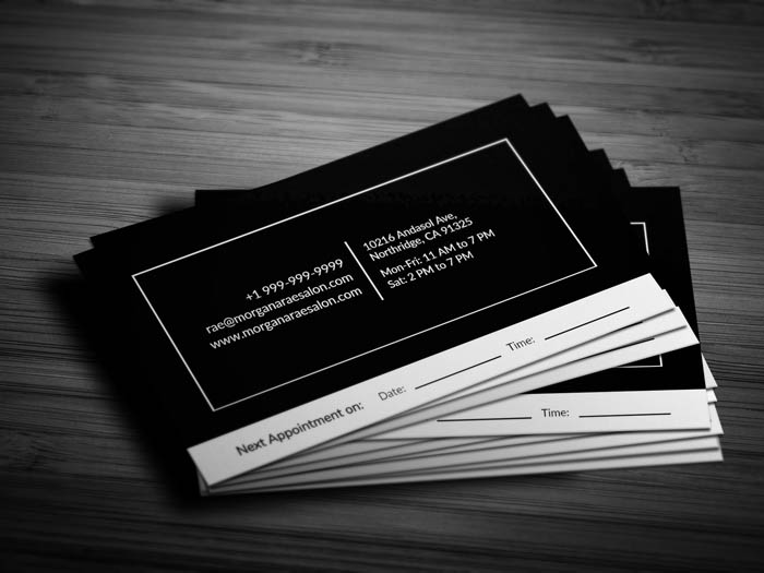 Hair Salon Business Card - Back