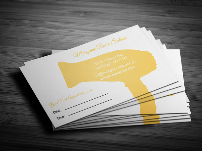Female Hairstylist Business Card - Back