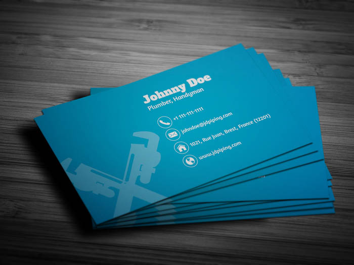 Plumber Business Card - Back