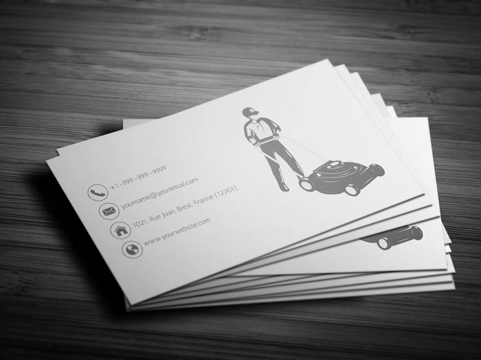 Lawn Mower Business Card - Back