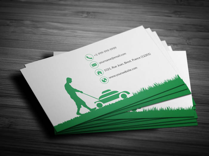 Mowing Business Card - Back