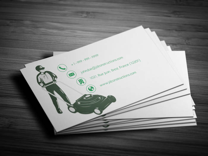 Lawn Maintenance Business Card - Back