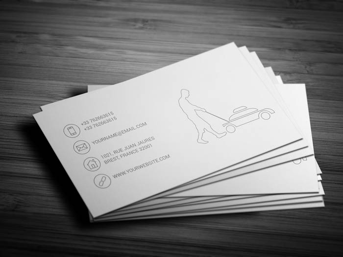Grass Cutting Business Business Card - Back