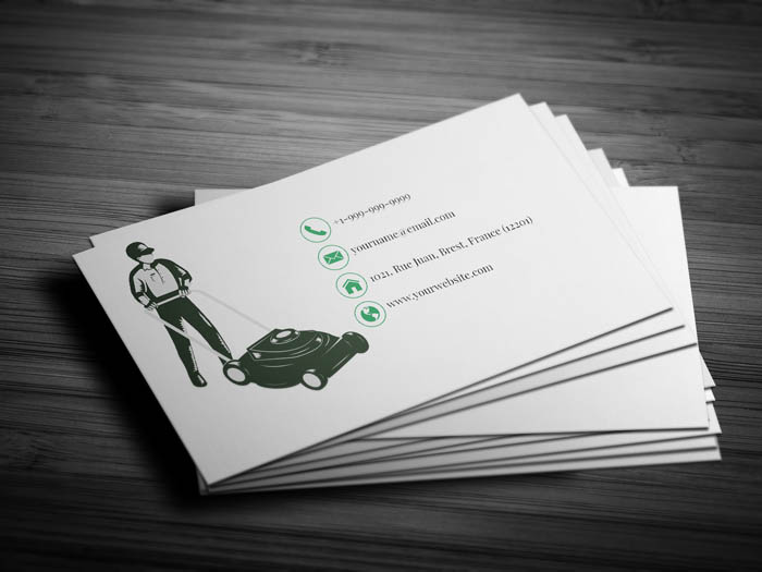 Lawn Business Card - Back