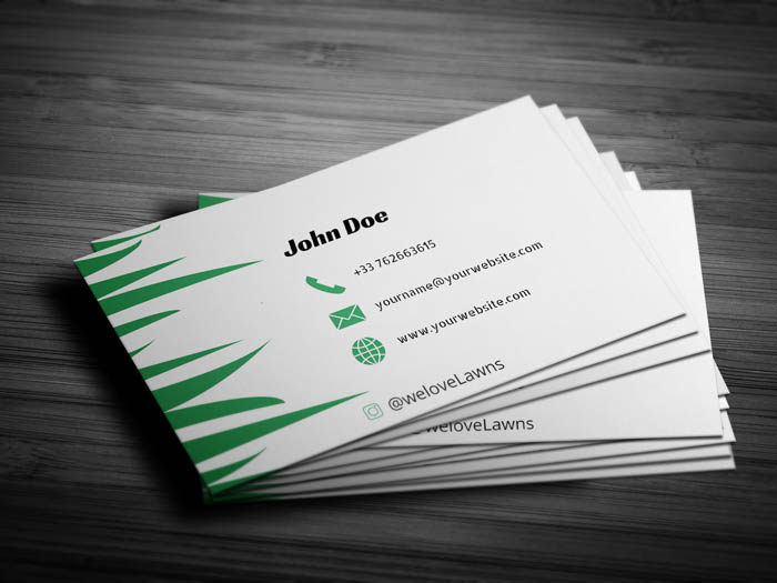 Lawn Mowing Business Card - Back