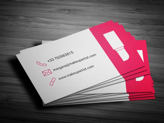 Freelance Makeup Artist Business Card Back