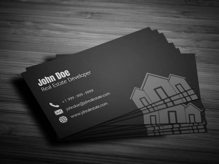 Real Estate Agency Business Card - Back
