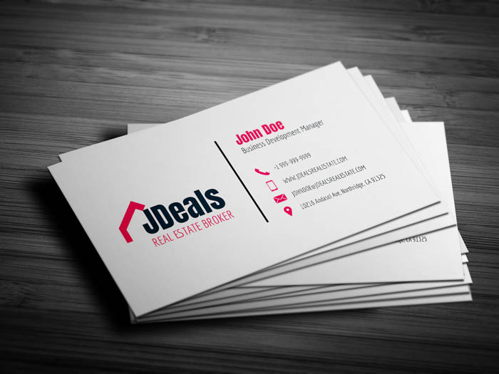 Real Estate Broker Business Card - Back