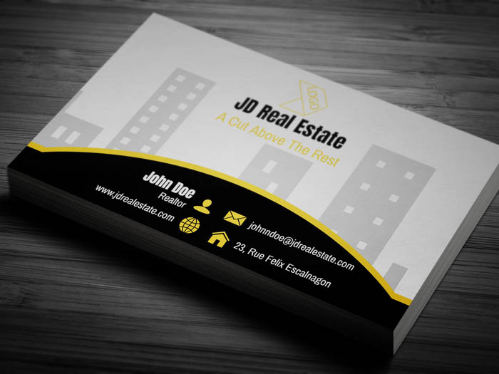Real Estate Salesperson Business Card - Back