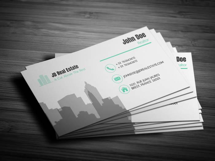 Modern Real Estate Business Card - Back