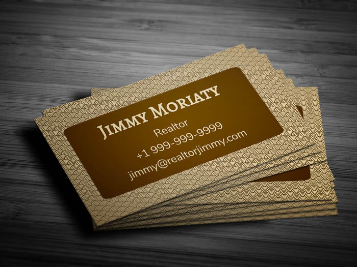 Minimal Real Estate Business Card - Back