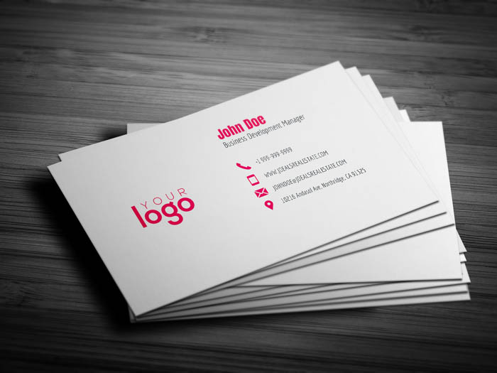 Minimal Realtor Business Card - Back