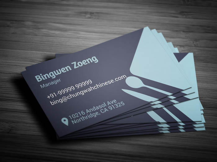 Dining Restaurant Business Card - Back