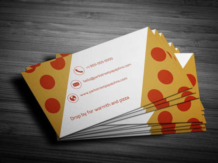 Pizza Business Card - Back