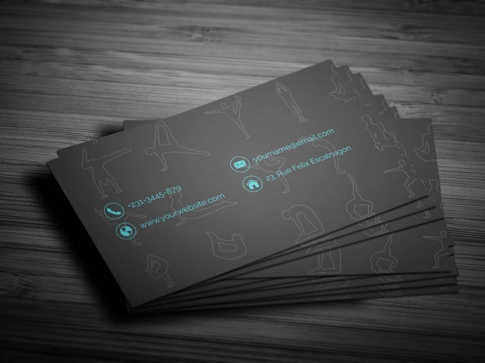 Yoga Instructor Business Card - Back
