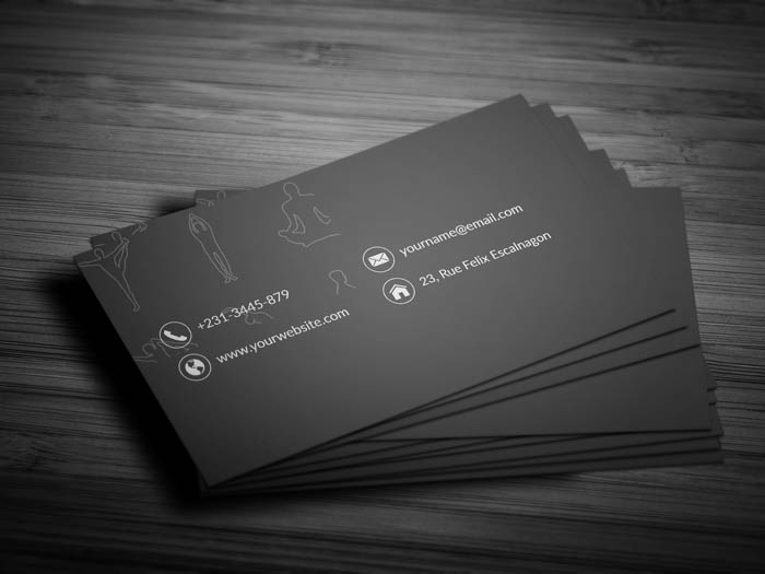 Yoga Studio Business Card - Back