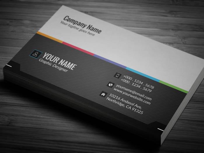 Minimalist Grey Business Card - Back