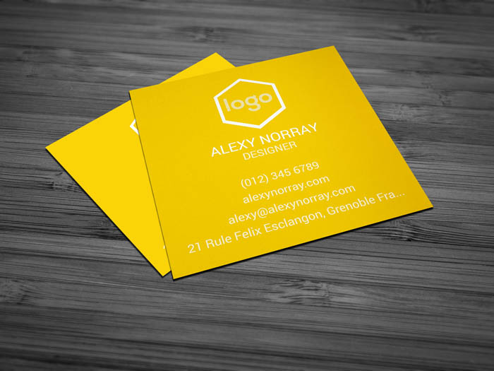 Minimal Business Card - Back