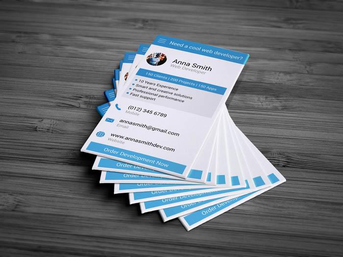 Developer Business Card - Back