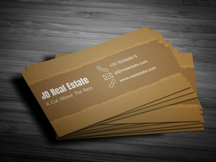 Commercial Real Estate Business Card - Back