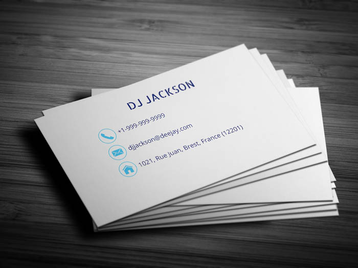 Minimal Dj Business Card - Back