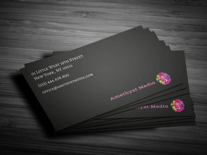 Purple Women Business Card - Back